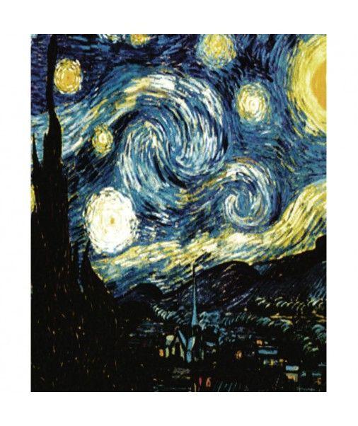 Strofinaccio da cucina canovaccio in cotone Quadri D'Autore - NOTTE STELLATA di Van Gogh
