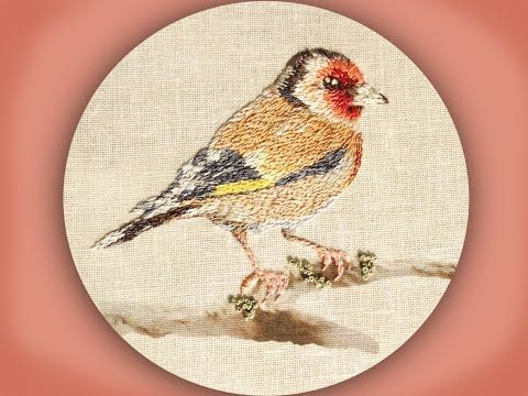 how to embroider a goldfinch in long & short stitch - https://www.youtube.com/watch?v=kSw_HtnM_zA