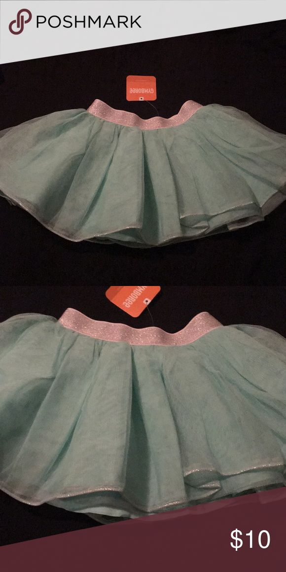 NWT Gymboree girls tutu skirt Mint skirt with silver waistband Height: 39-42 in Weight:36-40 lb Gymboree Bottoms Skirts