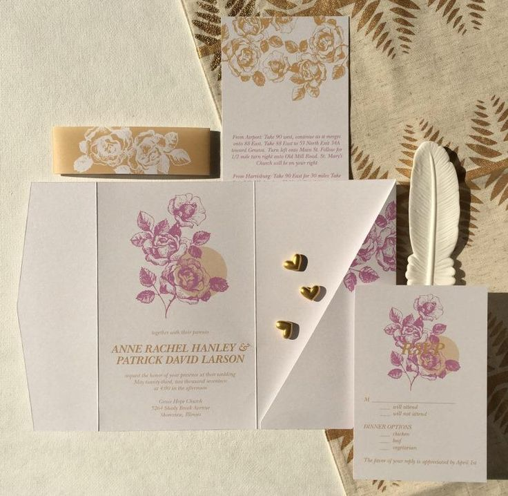139 best wedding invitation ideas images on pinterest fonts for a traditionally romantic scene this pocket wedding invitation from the bed of roses design suite is simply perfect get 3 free invitations samples in stopboris Choice Image