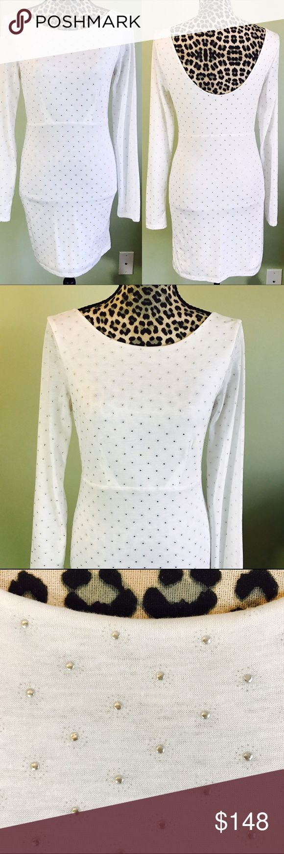 ⭐Free people white dress with embellishments Free people white dress with silver embellishments. Free People Dresses