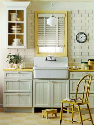 like the panelled kitchen cupboard and the sink