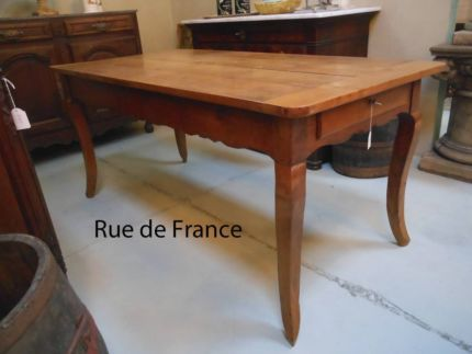 ANTIQUE FRENCH FARMHOUSE PROVINCIAL CHERRY WOOD DINING TABLE