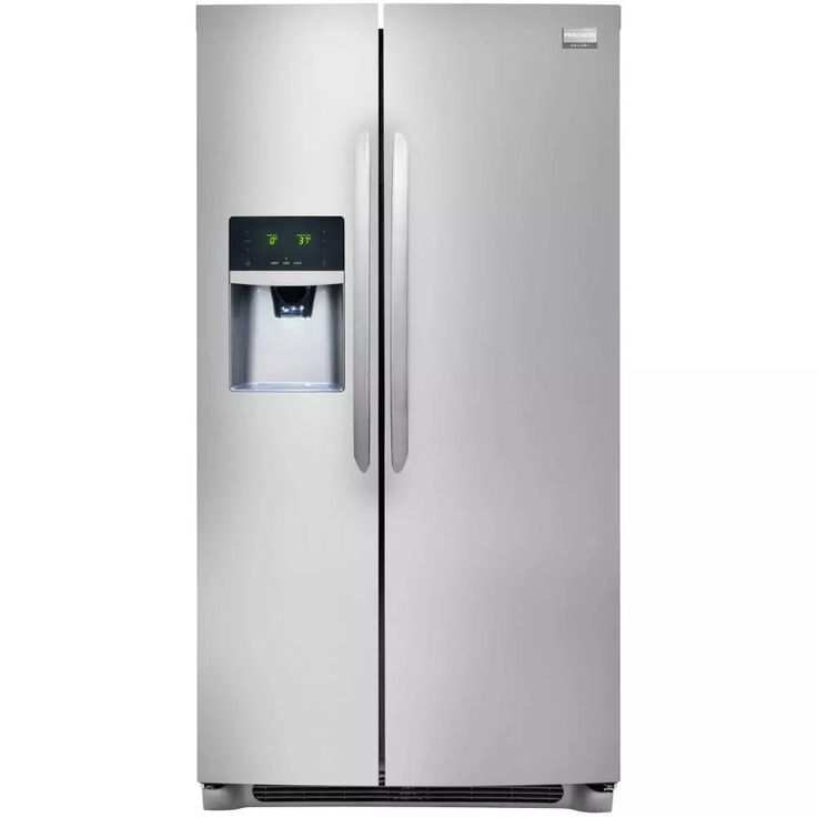 Frigidaire Gallery 25.6 Cu. Ft. Side-by-Side Refrigerator - Stainless Steel $760 (Reg $1500). Free delivery at S... #LavaHot http://www.lavahotdeals.com/us/cheap/frigidaire-gallery-25-6-cu-ft-side-side/217958?utm_source=pinterest&utm_medium=rss&utm_campaign=at_lavahotdealsus