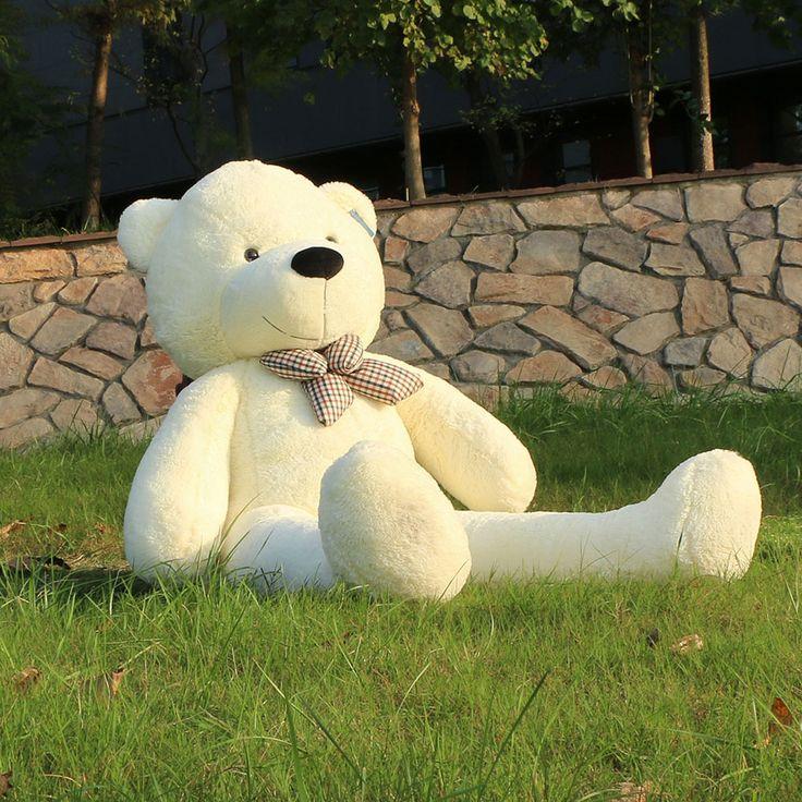 Joyfay 63''160cm White Giant Teddy Bear 1.6m Huge Stuffed Peluche Animal Big Soft Toy Best Birthday Valentine Anniversary gift