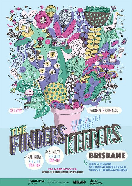 The Finders Keepers Brisbane AW15 Market Flyer by James Gulliver Hancock