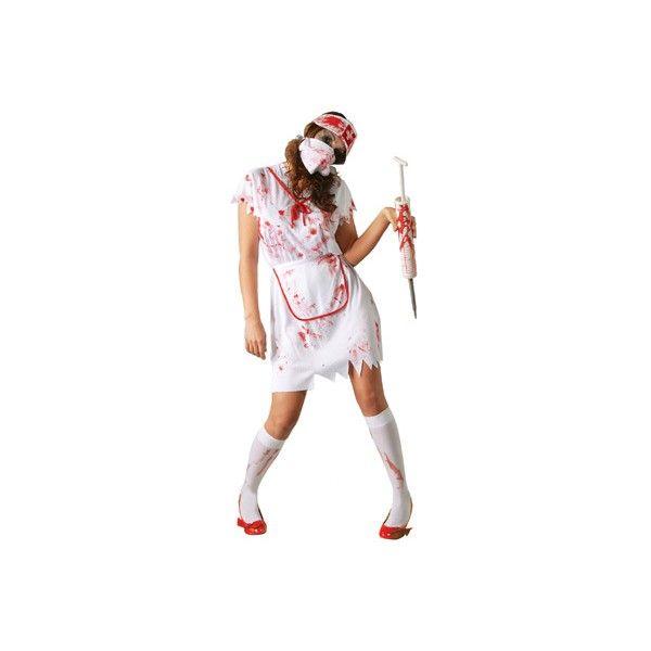 Disfraz de Enfermera Zombie, para la noche más terrorifica, halloween te espera, serás una muerte viviente busca a tus pacientes.