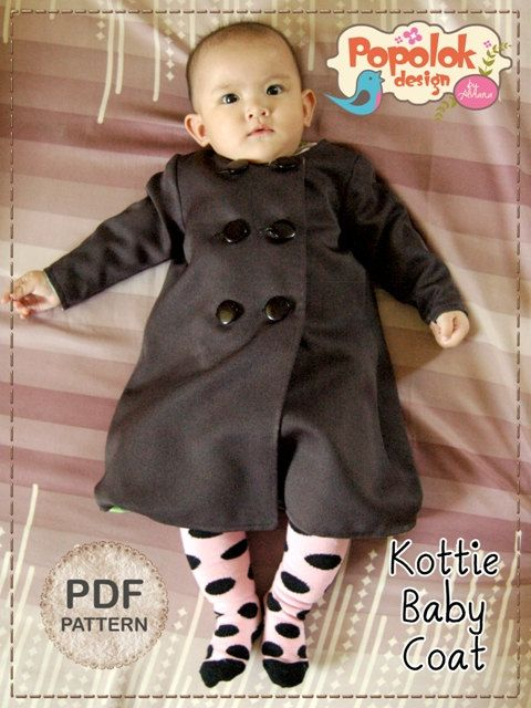 Kottie Baby Coat PDF Pattern & Tutorial by popolok on Etsy, $3.99