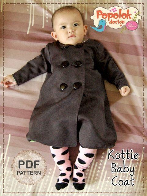 Kottie Baby Coat PDF Pattern & Tutorial by popolok on Etsy, $3.99