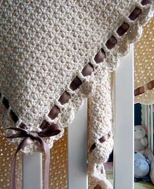 """Original pinner said, """"Totally reminds me of a baby blanket my sister Kaila and I had... think I shall be making one when my time comes :D :Posie: Rosy Little Things — Crochet Patterns Free pattern Ive made 3 of these. super easy. may want to adjust the width. chain a multiple of 2 to desired width and add one chain. Everybody loves getting this as a gift. Happy hooking! : )"""" #free #pattern #crochet"""