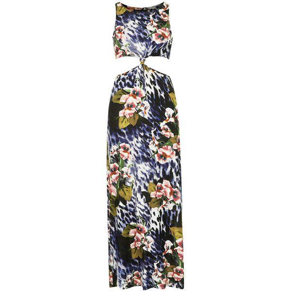 TOPSHOP PETITE Camo Animal Print Maxi Dress (235 MXN) ❤ liked on Polyvore featuring dresses, topshop, vestidos, blue, petite, blue animal print dress, petite length maxi dresses, camouflage dresses, petite dresses and topshop dresses