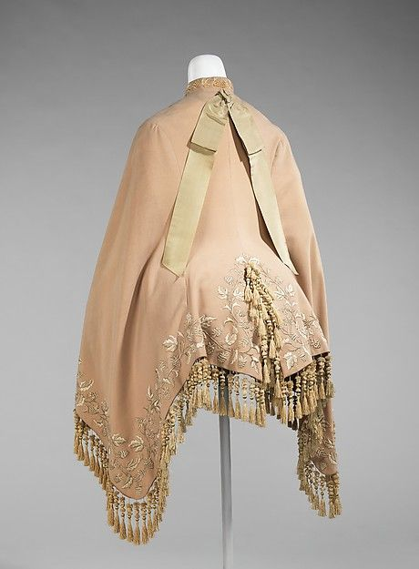 Dolman (image 2) | American | 1870 | wool | Brooklyn Museum Costume Collection at The Metropolitan Museum of Art | Accession Number: 2009.300.97
