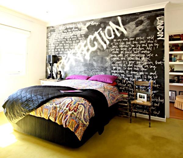 Jane Pettersen, bedroom, Adore Aug/Sept 2012, black, fuchsia, chalkboard wallRoll, Chalkboard Walls, Chalkboards Painting, Chalkboard Paint, Adorable Aug Sept, Aug Sept 2012, Rock, Chalkboards Wall, Chalkboards Room