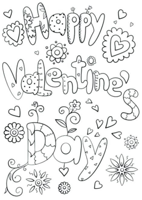 happy valentines day coloring pages happy valentines day coloring ...