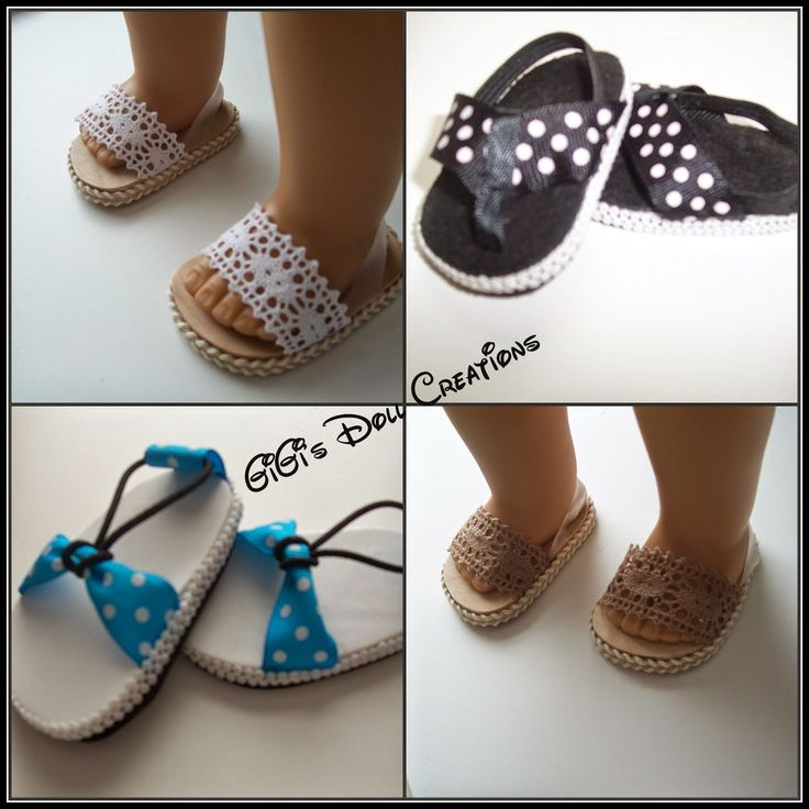 GiGi's Doll and Craft Creations: 18 inch Doll Sandal Tutorial - DIY