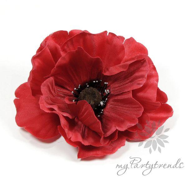 rote Ansteckblume 'Mohnblüte' (Ø 11 cm; Höhe 4 cm) von Boutique für wundervolle Accessoires zum Liebhaben! auf DaWanda.com