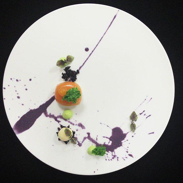 Indonesian Tradisional dessert Talam Ubi Coconut sphere Pandan microsponge Pandan cremeux blueberry sauce #talamubi #desserts #dessertporn #dessertmasters #chefslife #chef #chefsofinstagram #chefstalk #foodphotography #foodie #food #foodporn #tradisional #dontshootthechef #gastroart #gourmetartistry #theartofplating #art #yum #yummy #lunch #dinner #passion #painting #unique #coconut #foodart #indonesianfood #jakartafoodies #jakarta by ucokgultom