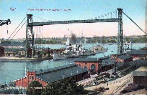 kiel prussia | Kiel - Haupteinfahrt der Kaiserlichen Werft