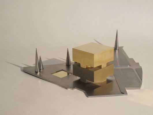 Bauhaus Museum Weimar, Germany Model: stainless steel and cast bronce with different finishings