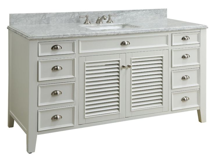 Best Photo Gallery For Website  inch Single Sink Bathroom Vanity Cottage Beach Style White Color x