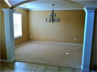 Formal Dining Room Without Furniture Custom Pillars And