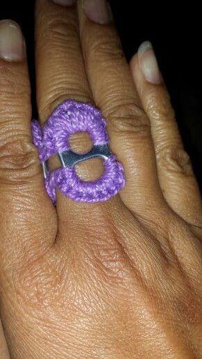 Yup crochet soda tabs ring