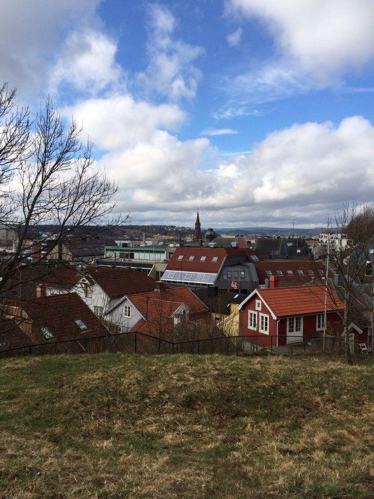 Motiv av Tønsberg tatt fra Haugar, Norway Tønsberg #tønsberg #norway #myhometown