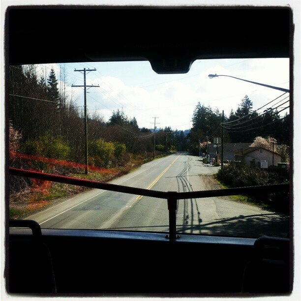 Taken in #Sooke, from the 'second-floor' of a double decker bus. Taken by @salonaddiction, courtesy of Instagram!