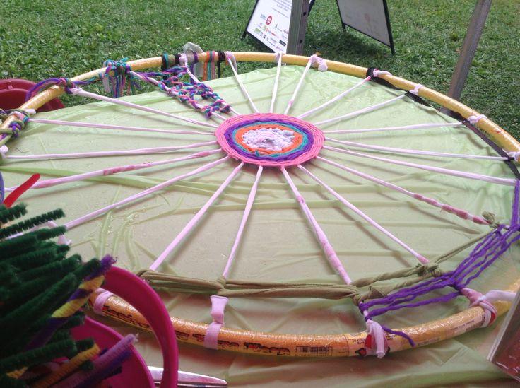 Final product of hula hoop weaving