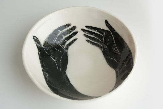 porcelain bowl by bryce wymer: Artists, Circles, Serving Bowls, Ceramics Dinnerware, Black And White, Porcelain Bowls, Beautiful Hands, Blog, Beautiful Art
