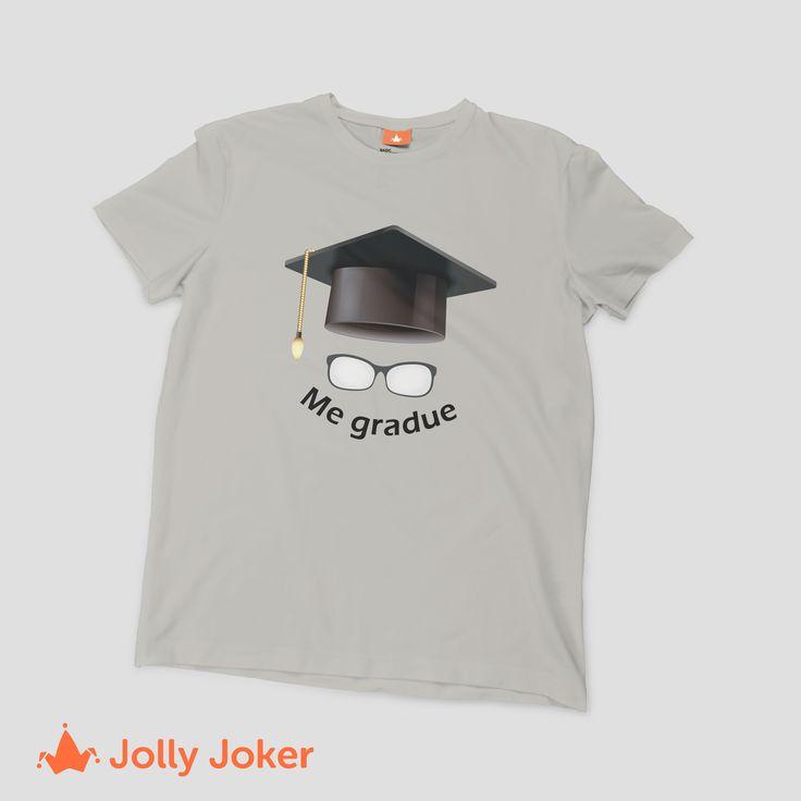 ¿Quieres gritar a los cuatro vientos que te graduaste? ¡Hazlo! Diseña y ordena super rápido tu camiseta personalizada de grado, quedaran geniales y no podrás pasar desapercibido :D