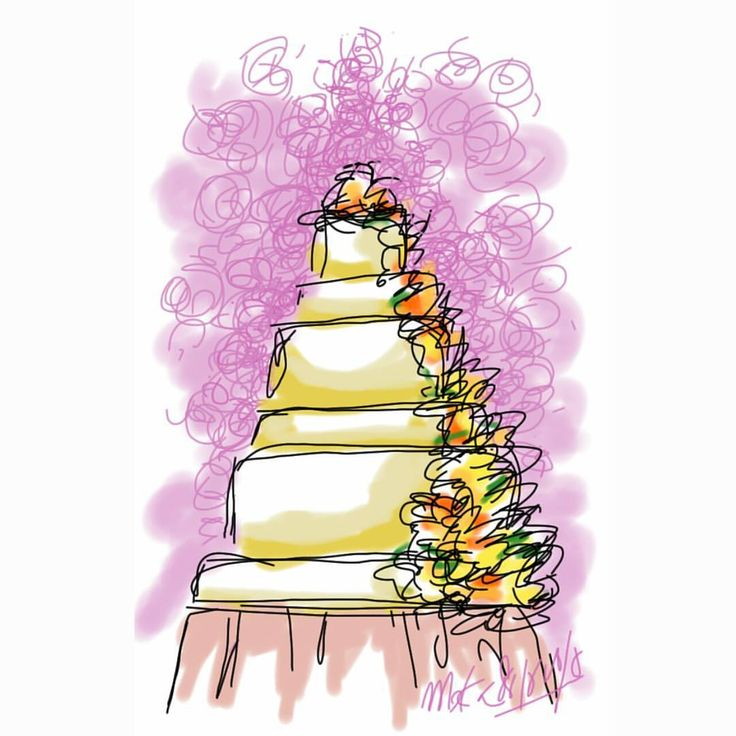 wedding cake #mekaworks #drawing