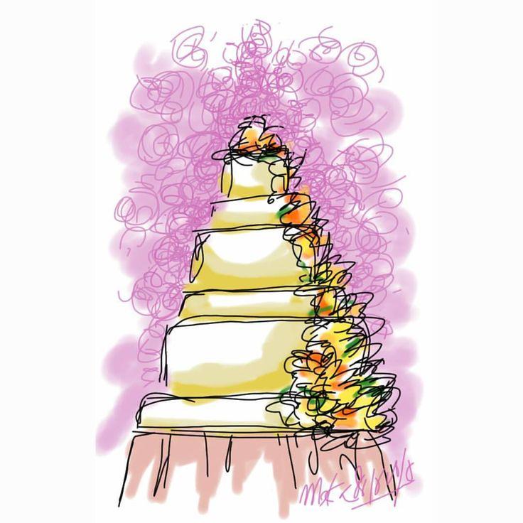 wedding cake #mekaworks #drawing