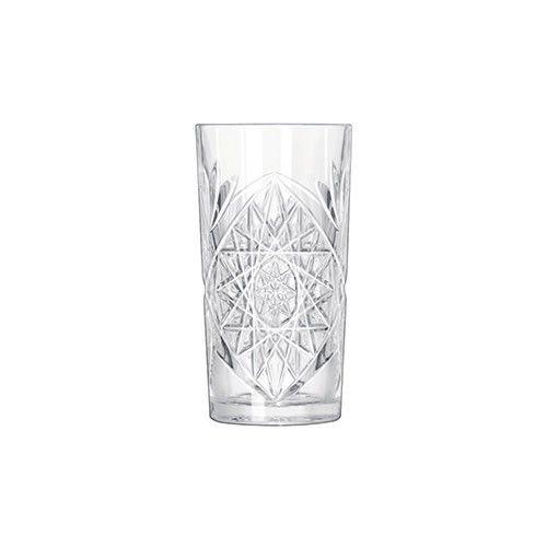 Γυάλινα ποτήρια με εντυπωσιακά ανάγλυφα σχέδια, κατάλληλα για αναψυκτικά, νερό και χυμούς. Πλέντονται στο πλυντήριο πιάτων. Διαστάσεις: Δ: 8.4cm Y 18.8cm . Χωρητικότητα: 47cl