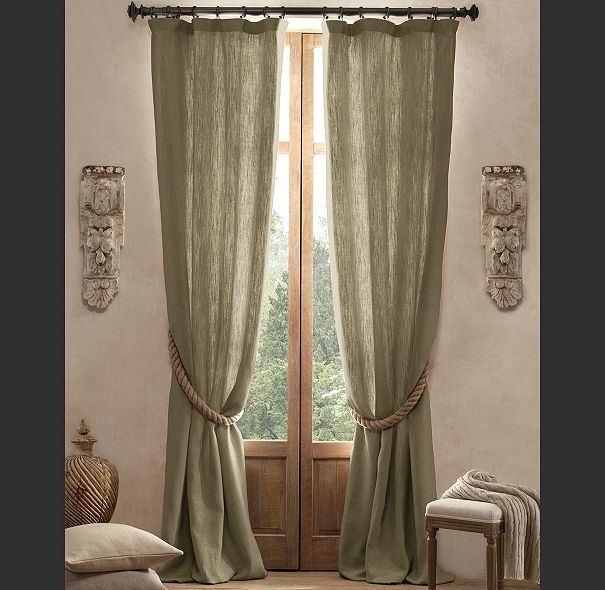 Textured Belgian Linen Drapery (color: Acanthus): Texture Belgian, Linens Drapery, Windows Covers, Sweets Home Someday, Drapery Colors, Living Room, Texture Linens, Belgian Linens, Rich Colors