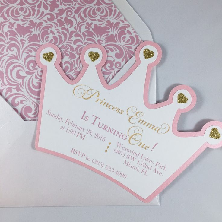Princess Crown Invitation Template Photo 5