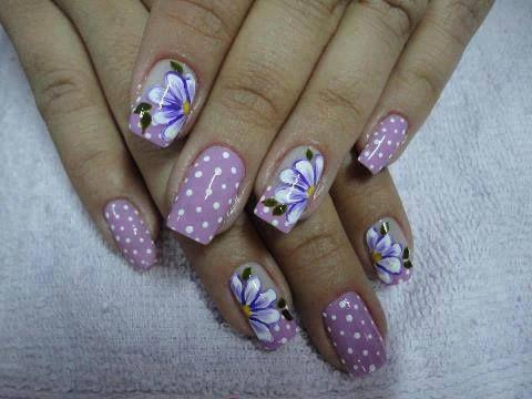 diseños de uñas pinceladas - Buscar con Google | uñas | Pinterest ...