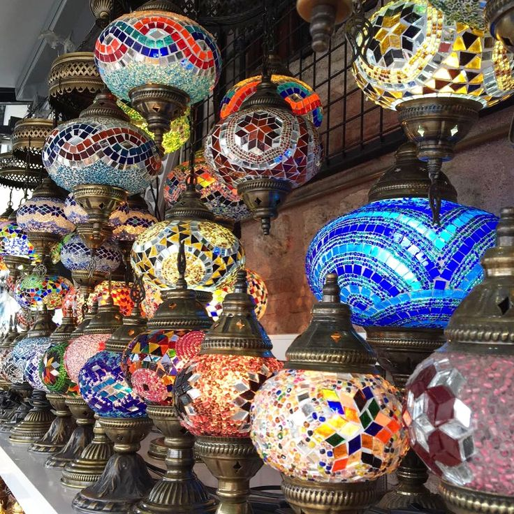 Turkish Mosaic Lamps and Chandeliers by grandbazaarshopping.com