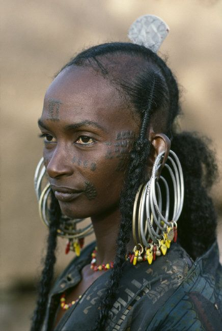"Wodaabe woman. Niger | Steve McCurry, from his ""The Sahel Desert"" Album - human - people - face -portrait - photography"
