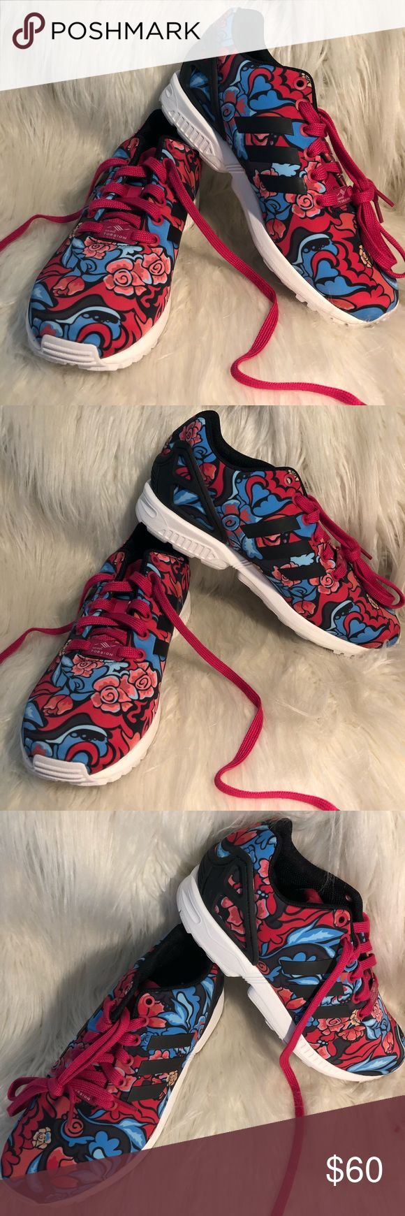 Adidas Torsion ZX Flux Floral Print New with tags adidas Shoes Athletic Shoes