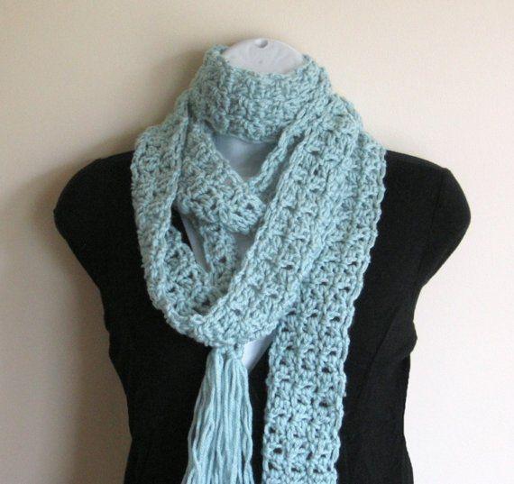 Seafoam scarf love!  CozyGirlDesigns on Etsy, $25.00