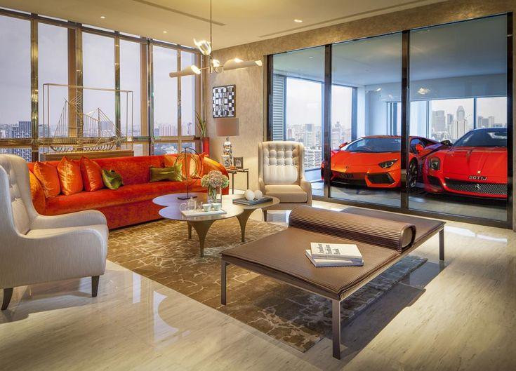 """""""Skygarage"""" für Luxushochhaus in Singapur: das Auto auch im 29. Stock immer im Blick"""