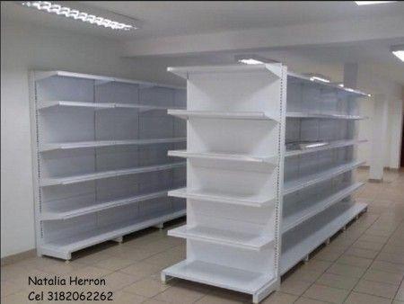 Góndola metálica central y tope para supermercados   en Medellin Colombia
