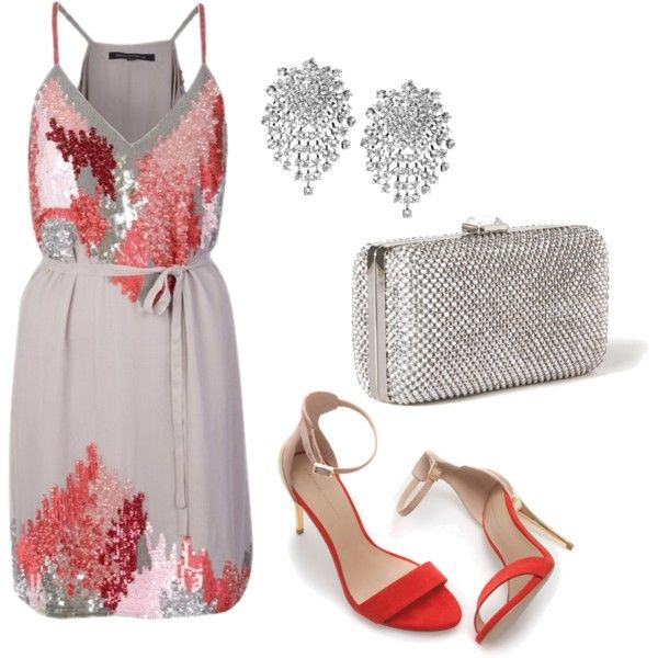 A fashion look from June 2013 featuring French Connection dresses, Zara sandals and Rebecca Taylor clutches. Browse and shop related looks.