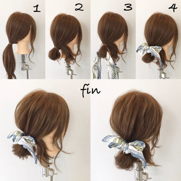 Scarf arrangement (^ ^) 1, I will make a ponytail!…