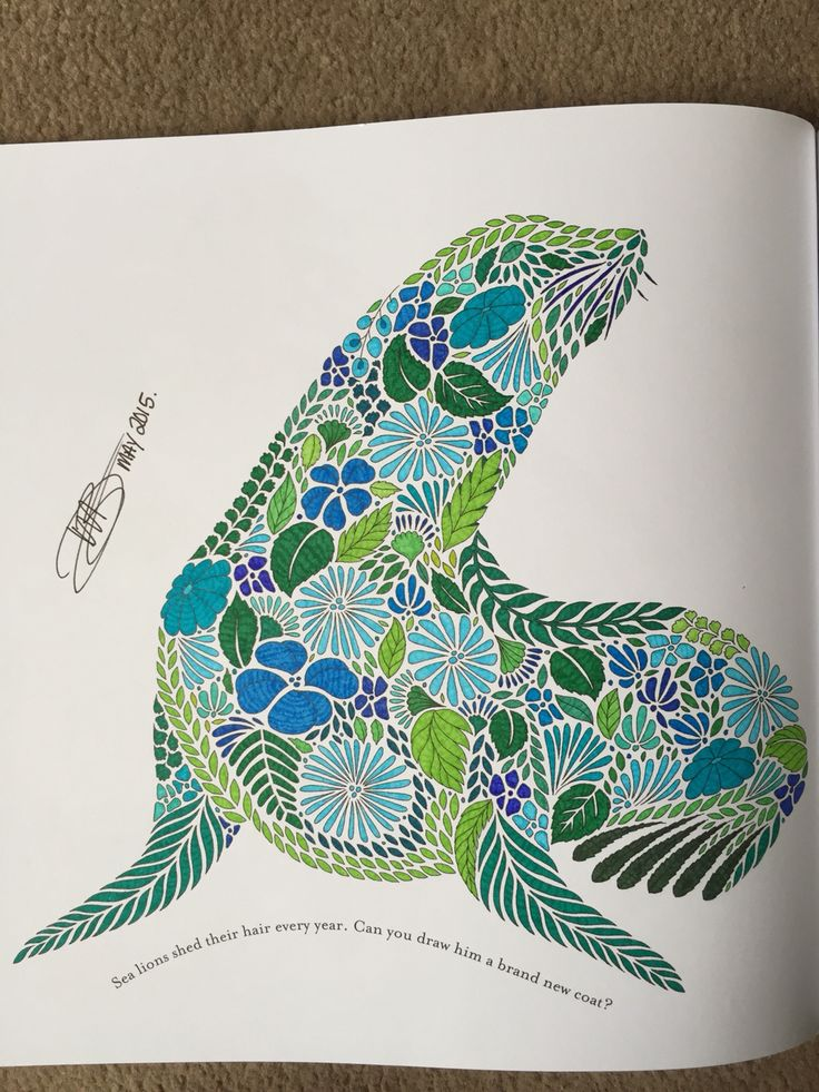 Millie Marottas Animal Kingdom DWB 2015 My Gallery Milliemarotta Animalkingdom Adultcoloring