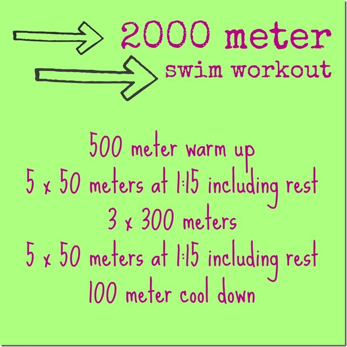 2000 meter swim workout by @caitlinhtp