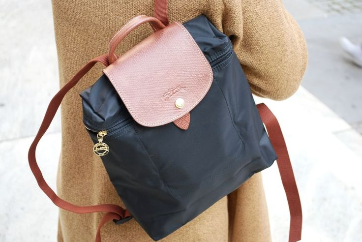 The prettiest Longchamp backpack. Perfect for sight seeing in NYC.