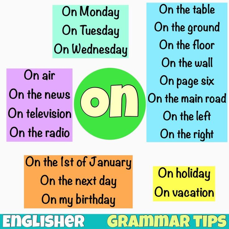 Grammar tips: Preposition ON