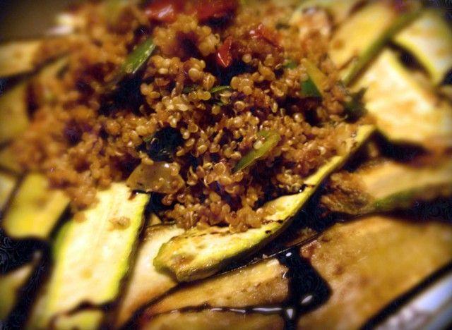 Ricette. Quinoa per stare leggeri con melanzane e zucchine